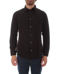 Fedeli Cotton Shirt - Black