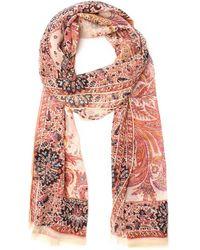 Etro - Pink Cotton Scarf - Lyst