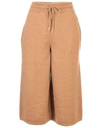 Celine Cashmere Shorts - Brown