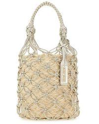 Miu Miu Canvas Handbag - Natural
