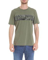 Woolrich Wotee11546373 Cotton T-shirt - Green