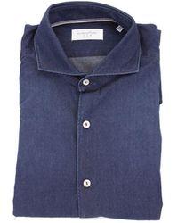 Tintoria Mattei 954 Blue Cotton Shirt