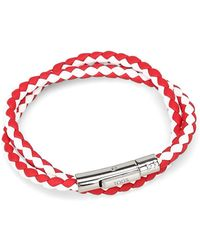 Tod's White/red Leather Bracelet