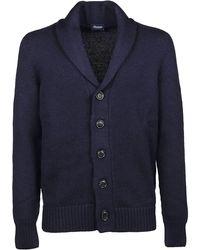 Drumohr Blue Wool Cardigan
