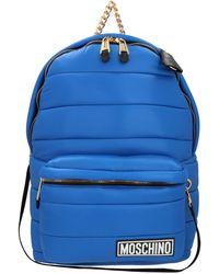 Moschino Gesteppter Rucksack - Blau