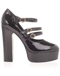 Celine Leather Pumps - Black