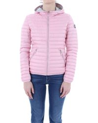 a27f05264a94 adidas Originals Logo-embroidered Shell-down Puffer Jacket in Pink ...