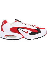 Nike Air Max Triax 96 Leather, Mesh And Suede Sneakers - Red