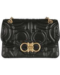 Ferragamo Black Leather Travel Bag