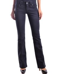 John Galliano Women's Mcbi130038o Blue Cotton Jeans