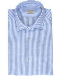 Xacus Multicolour Cotton Shirt - Blue