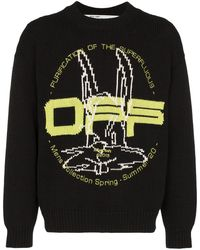 Off-White c/o Virgil Abloh T-Shirt Harry the Bunny - Schwarz