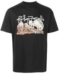 Palm Angels T-Shirt Desert Skull - Schwarz
