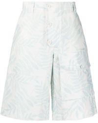 Jacquemus Laurier Leaf-print Cargo Shorts - Blue
