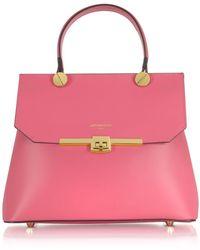 Le Parmentier Fuchsia Leather Handbag - Pink