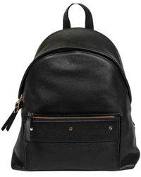 Borbonese Leather Backpack - Black
