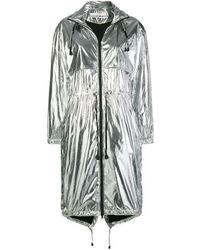 Paco Rabanne Silver Polyester Coat - Metallic