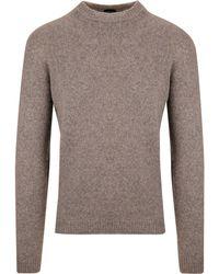 Roberto Collina Beige Wool Jumper - Natural