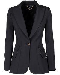 Elisabetta Franchi - Logo Piping Jacket - Lyst