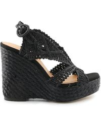 Paloma Barceló Black Other Materials Wedges