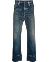 Saint Laurent Jeans mit geradem Bein - Blau