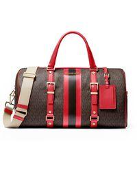 Michael Kors Brown Leather Travel Bag