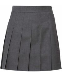 Thom Browne Wool Skirt - Gray