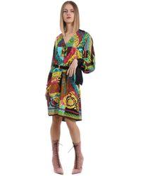 Versace SEIDE KLEID - Mehrfarbig