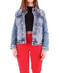 Calvin Klein Blue Cotton Outerwear Jacket