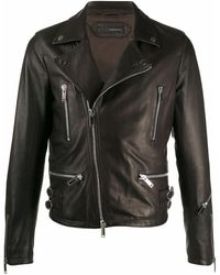Tagliatore Rue2002lloyd Leather Outerwear Jacket - Black