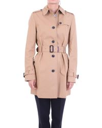 Tommy Hilfiger Beige Cotton Trench Coat - Natural