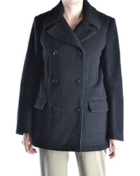 Alexander Wang - Black Wool Coat - Lyst