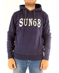 Sun 68 Blue Cotton Sweatshirt