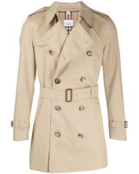 Burberry Beige Cotton Trench Coat - Natural