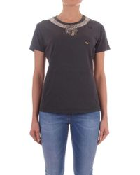Pinko Black Cotton T-shirt