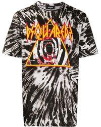 DSquared² T-Shirt mit Batik-Print - Schwarz