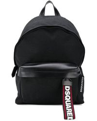 DSquared² Backpack With Nylon Logo - Black