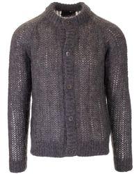 Prada Grey Wool Cardigan - Gray