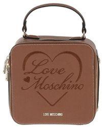 Love Moschino POLYURETHAN HANDTASCHEN - Braun