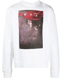 Off-White c/o Virgil Abloh Sweatshirt mit Caravaggio-Print - Weiß