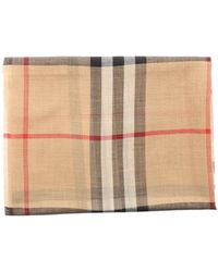 Burberry Beige Wool Scarf - Natural