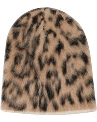 Laneus Beige Wool Hat - Natural