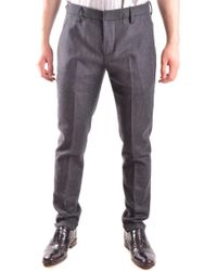 Dondup Grey Cotton Trousers - Gray