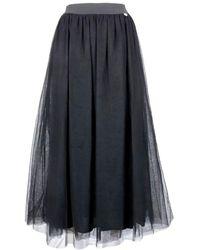 Twin Set Polyamide Skirt - Black