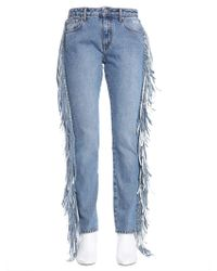 MSGM Blue Cotton Jeans