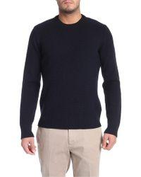 Paolo Pecora Black Wool Jumper - Blue