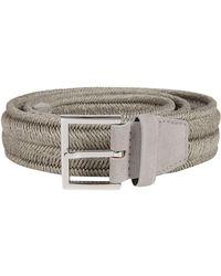 Orciani White Linen Belt