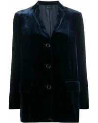 Aspesi Viscose Blazer - Blue