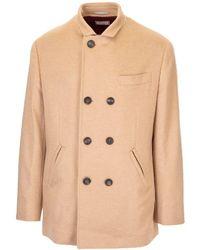 Brunello Cucinelli Cashmere Outerwear Jacket - Brown