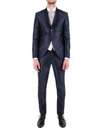 Carlo Pignatelli Blue Polyester Suit